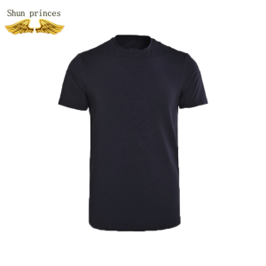 T-Shirt Men Costume Short-Sleeves O-Neck Leisure Breathable Pure-Color Movement Cotton