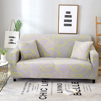 Sofa Covers for Living Room Modern Floral Printed Stretch Sectional Slipcover Polyester L Shape Armchair Couch Case 1/2/3/4 Seat 28