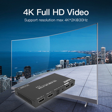 1x2 HDMI-compatible 2.0 Splitter 1 In 2 Out 4K Video Sharing Adapter for HDTV PC Monitor