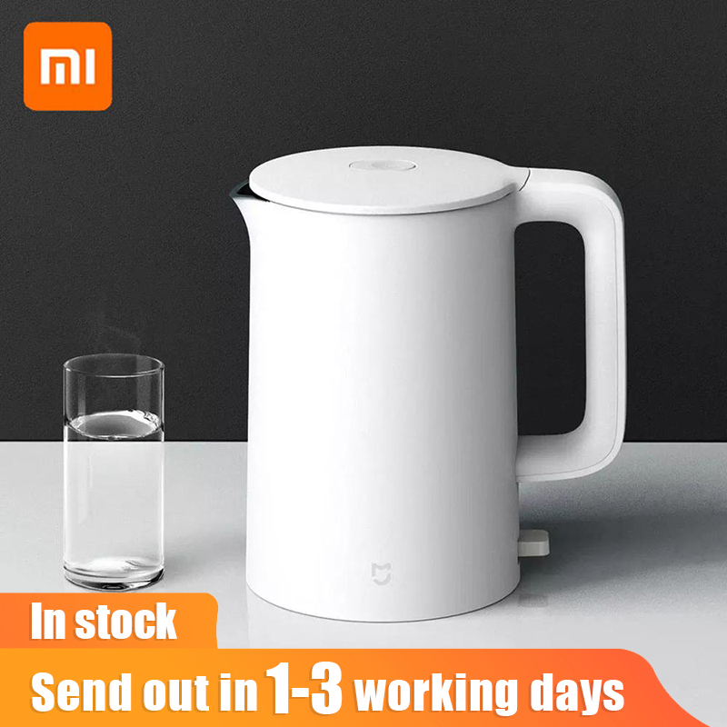 Xiaomi Mijia Electric Kettle Fast Hot boiling Stainless Water Kettle Teapot Intelligent Temperature Control Anti-Overheat 1A