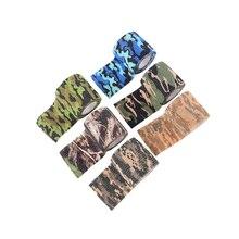 Tapes Hunting-Screen Camo-Pattern 6pcs Bandage Self-Adhesive Non-Woven Random-Color Outdoor
