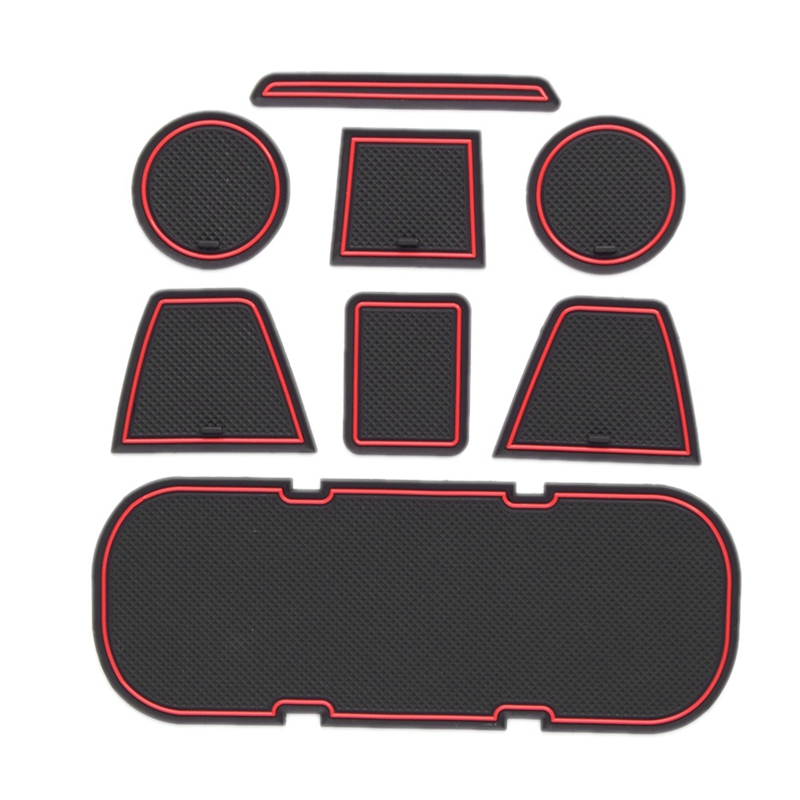 Anti-Slip Car Door Rubber Cup Cushion Red Gate Slot Pad For Toyota 86 Subaru BRZ GT86 FT86 Scion FR-S 2012~2019 Mat Accessories