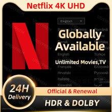 Netflixed-lix premium 4k uhd 1-5ecrãs acc em todo o mundo 100% disponível & estável