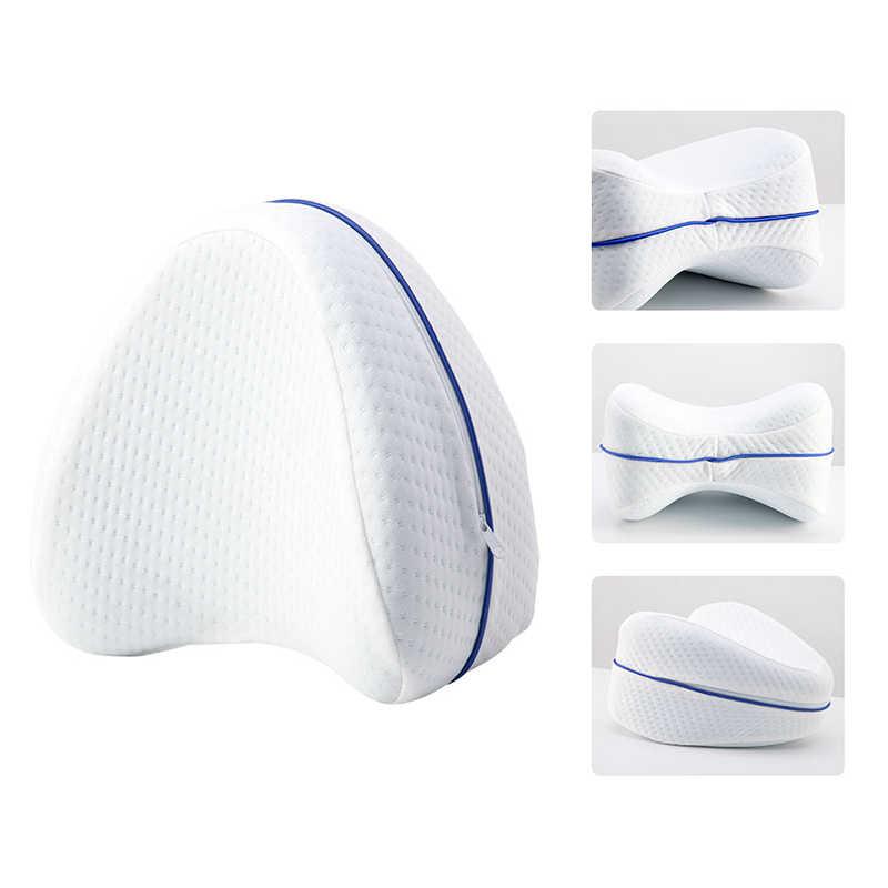 Nyaman Lutut Bantal Kaki Bantal Mudah Tidur Memori Kapas Klip Kesehatan Ortopedi Bantal Anti-Pressure Side Tidur