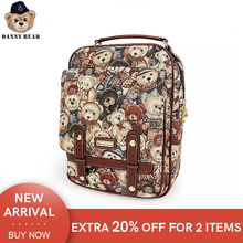 Danny Bear Camouflage Student Casual Bagpack Vintage Zipper College Laptop