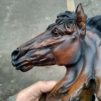 Horse statue ornaments, resin crafts, imitation wood carvings, home decorations, souvenirs(A907)