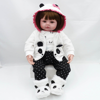 47cm Bebes Reborn Doll Bed Time Baby Girl Dolls Soft Silicone Lifelike Alive Toddler Newborn Toy Children's Day Gifts Toys