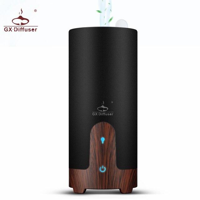 Gx. difusor ultra sônico umidificador de carro usb difusor de óleo essencial liga portátil mini carro aroma difusor névoa maker com lâmpada led