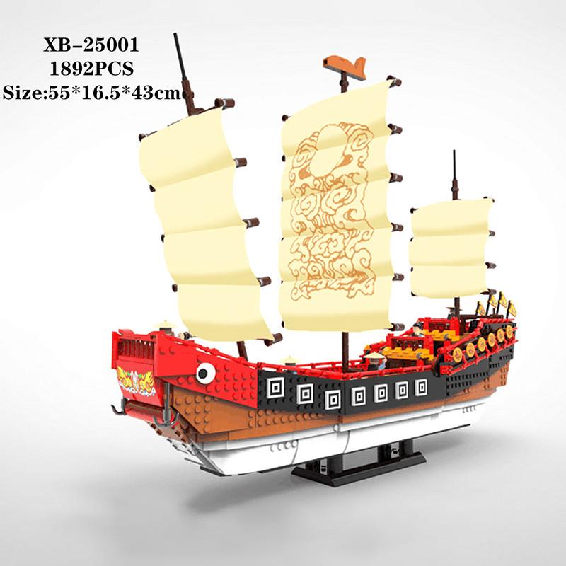 Большая модель парусного судна строительные блоки 1892 шт сборный