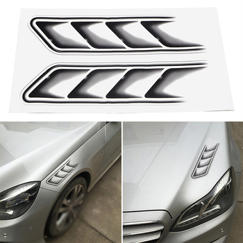 Protect Decoration Black 2pcs Car Air Flow Fender Decor Replace Decals Sticker Useful Stickers image