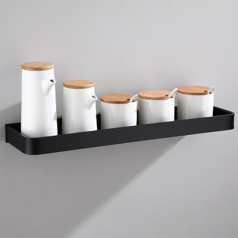Полка для ванной, черная алюминиевая угловая полка для ванной комнаты, настенный черный алюминиевый держатель для кухни|Полки для ванной|   | АлиЭкспресс