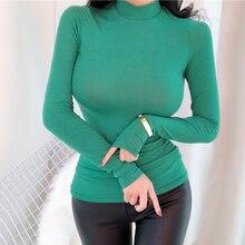 Elasticity Long Sleeve Shirt Women Blouse
