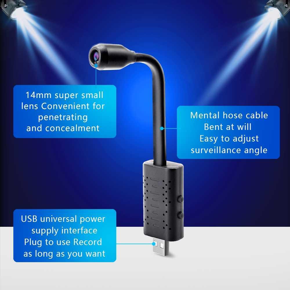 Маленькая камера U21, портативная умная wifi/USB камера, 360 градусов, 1080 P, HD камера с функцией обнаружения движения, мини-камера Micro cam