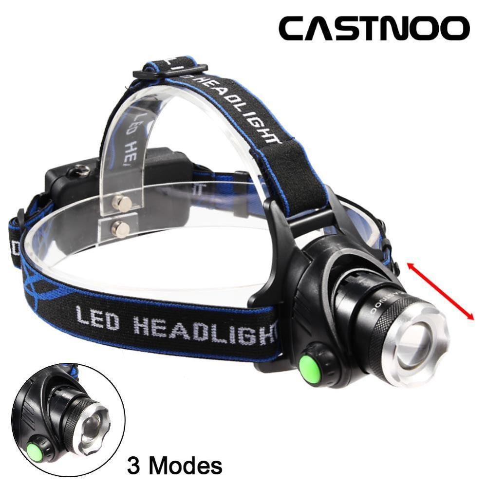Rechargeable 12000Lm T6 LED 18650 Zoomable Headlamp Headlight Waterproof 3 Modes Super Bright Camping Light With USB Cable