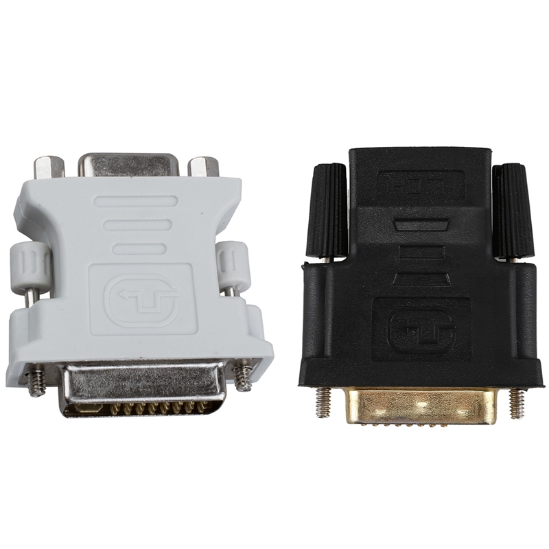 DVI Male 24 Plus 5 DVI-I to VGA Female Adapter & Gold Tone DVI-D Dual Link 24+1 Male to HDMI Female o Video Adapter image