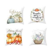 Halloween Thanksgiving Pumpkin pillows Cover Decoration Pillow Cushion Durable and Washable Case for Home Office Car