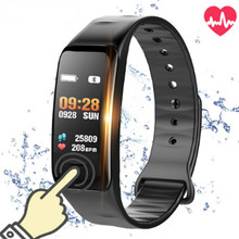 Smart bracelet C1s Color screen Waterproof wristband heart rate monitor Blood pressure measurement Fitness tracker band