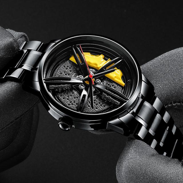 2020 Nektom Men Watch Sports Car Watch Wheel Rim Design Car Stainless Steel Wristwatch Waterproof Watches Fashion Luxury Watch