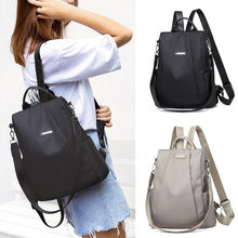 Womens Portable Anti-theft Travel Backpack Girls Casual Oxford Waterproof Lager Capacity Shoulder Bag Schoolbag