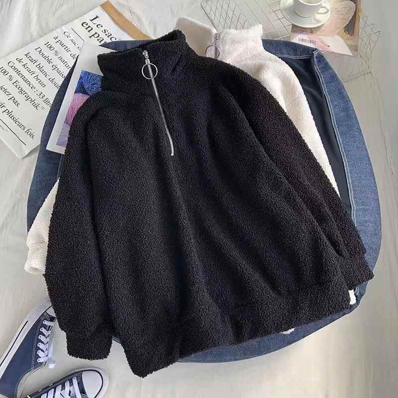 모조 양고기 벨벳 가드 드레스 여성 플러스 두꺼운 느슨한 칼라 2019 겨울 여성 의류 ins 자켓 플러스 두꺼운 가드 여자