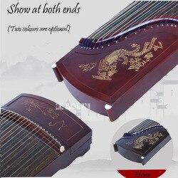 Guzheng Instrumen Emas Bubuk Percetakan Profesional 21 String Khusus Melakukan Instrumen ZYG-116