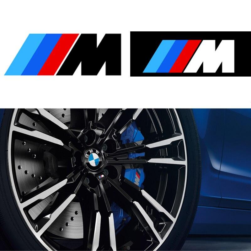 6pcs Car accessories car brake caliper sticker car decoration sticker decal For  BMW M3 M5 M6 E36