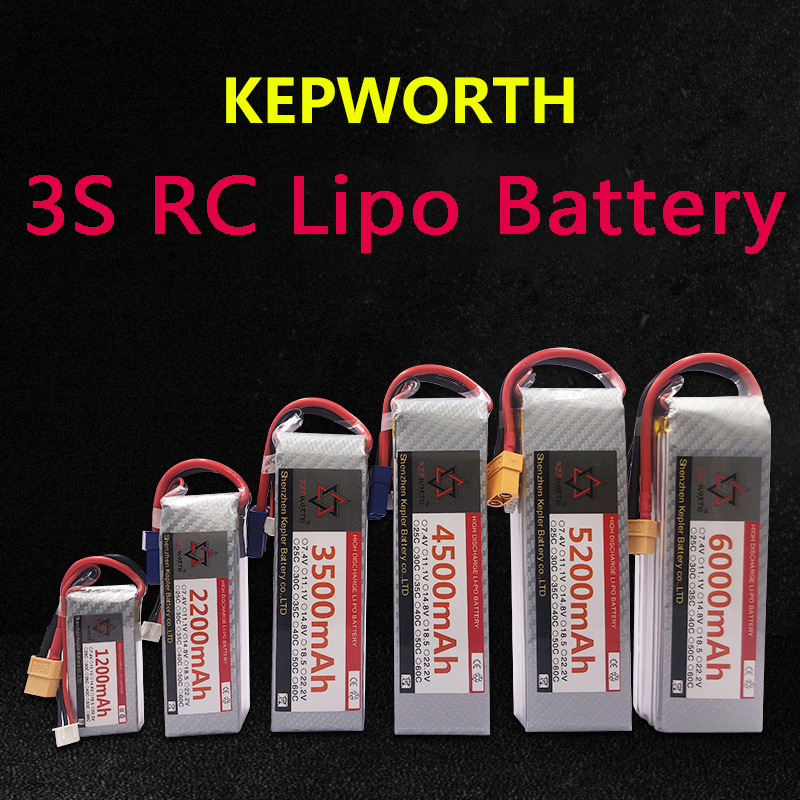 <font><b>3S</b></font> LiPo <font><b>Battery</b></font> XT60/T Plug 11.1V900 1500 2200 3500 4500 5200 6000mAh For RC Airplane Car Plane Boat Truck Tank Drone Helicopter image