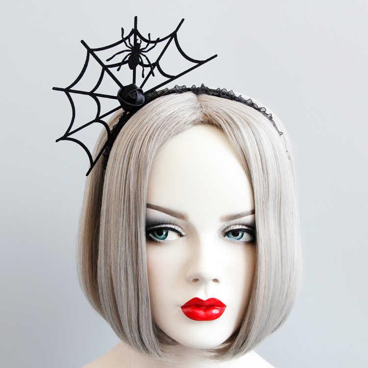 Забавная повязка на голову на Хэллоуин, Вилка дьявола, Женская паутина, цветок, обруч для волос, вечерние украшения, Топпер, новые аксессуары для волос 1111