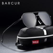 BARCUR Aluminium Magnesium Square  Minimalist  Sunglasses for Men Sun glasses for women oculos