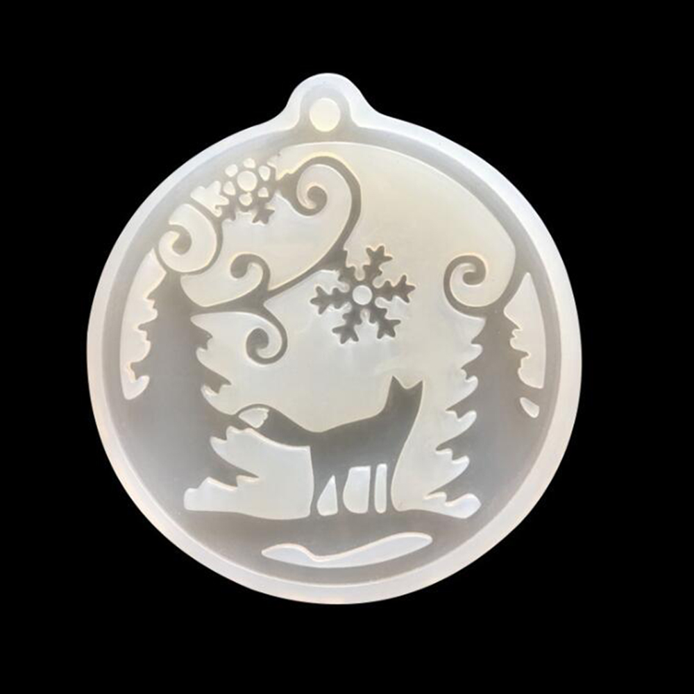 New Cute Cake Silicone Mold DIY Handmade Snow Fox With Hole Pendant Ornaments Crystal Glue Jewelry Accessories Decor Mould