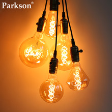 Bombilla LED Edison Retro E27 220V 3W 40W regulable luz con filamento LED bombilla ampolla Vintage lámpara A60 ST64 G80 G95 decoración lámpara Edison