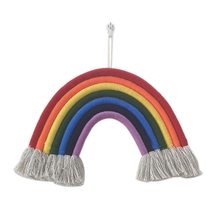 Rainbow Handmade Weaving Ornament Nordic Simple Kid Room Wall Decoration Hanging Home Accessories Extra Large