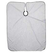 Фартук для стрижки, черный и белый цвет, полосатый фартук для стрижки, подходит для стрижки в салоне или дома
