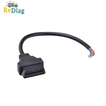OBD2 16Pin Female/male Connector to Opening OBD Cable OBDII OBD-ii ODB2 16 Pin OBD 2 Adaptor 30CM/60CM Length Hot Sale image