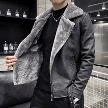 Thick Cotton Faux Fur One Loose Coat 2019 Fashion Solid Color New Winter Luxury High Quality Male Sl