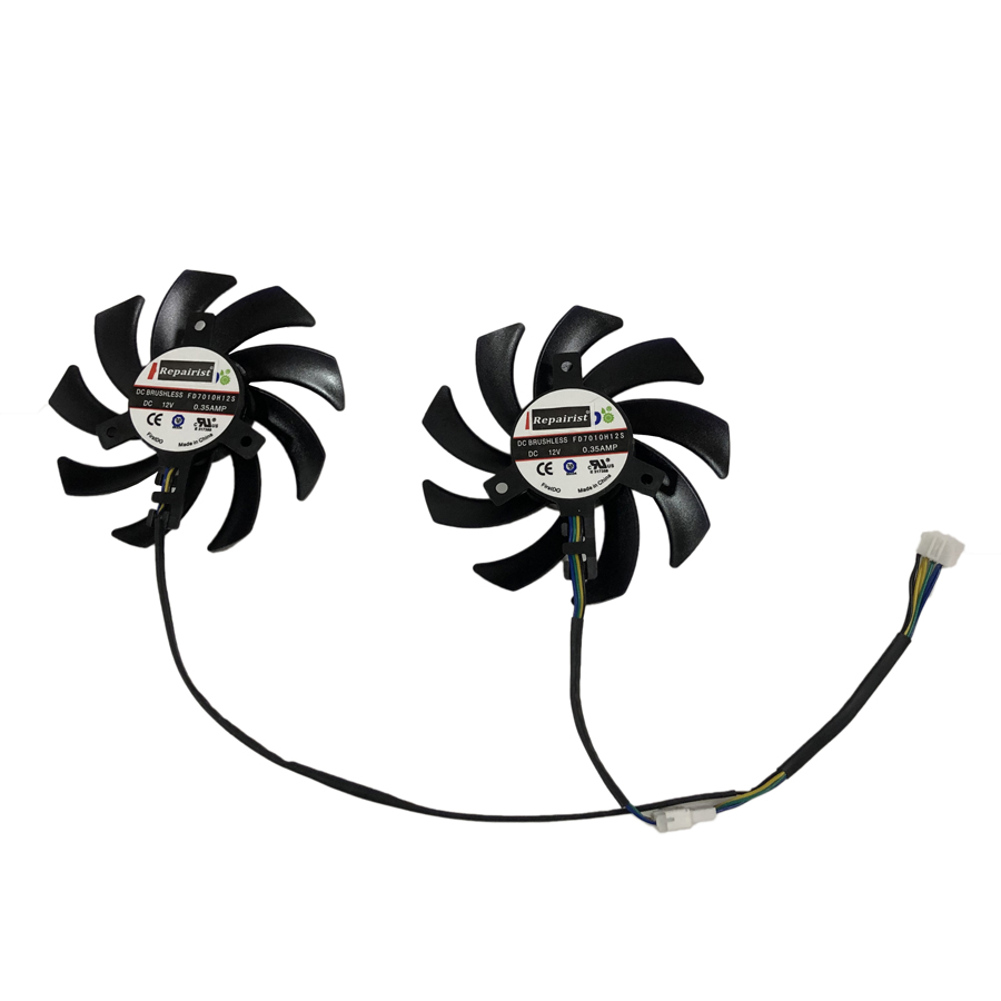 2pcs/set GTX1080 GTX1070 GTX1060 GPU VGA Alternative Cooler Fan For Palit GeForce GTX 1080 1060 1070 Video Card Cooling Replace image