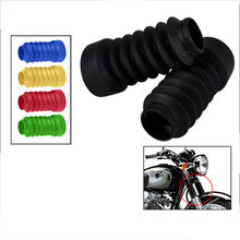 2 Pcs Motorcycle Front Fork Cover Boot Shock Protector Dust Guard For Honda Dio18/27 Yamaha Jog50/90 Etc 103mm Rubber