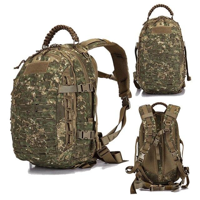 Sac à dos militaire tactique randonnée sac de chasse en plein air EDC engrenages tactiques Laser coupe Molle PALS sac Multicam sac de Sport de Camping 25L