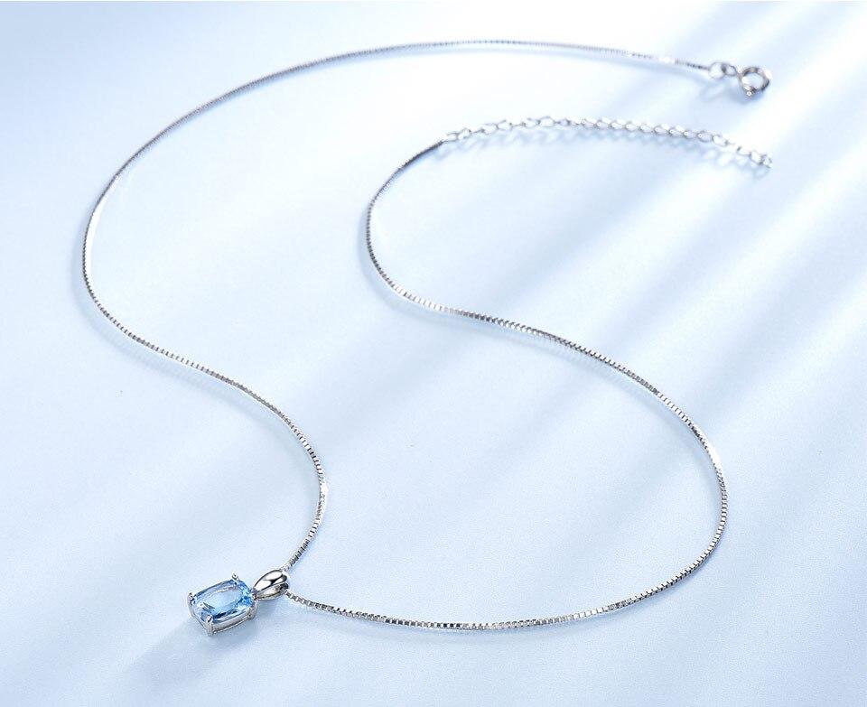 UMCHO Sky blue topaz silver sterling jewelry sets for women S011B-1-PC (7)