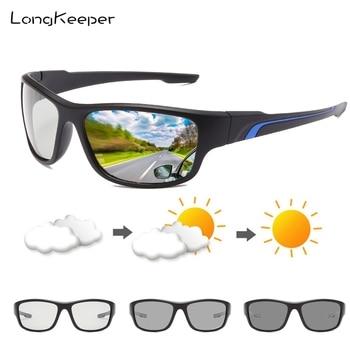 Gafas de sol fotocromáticas polarizadas para hombre, lentes de decoloración camaleón para conducir, Gafas de sol cuadradas clásicas para hombre, Gafas de sol UV400