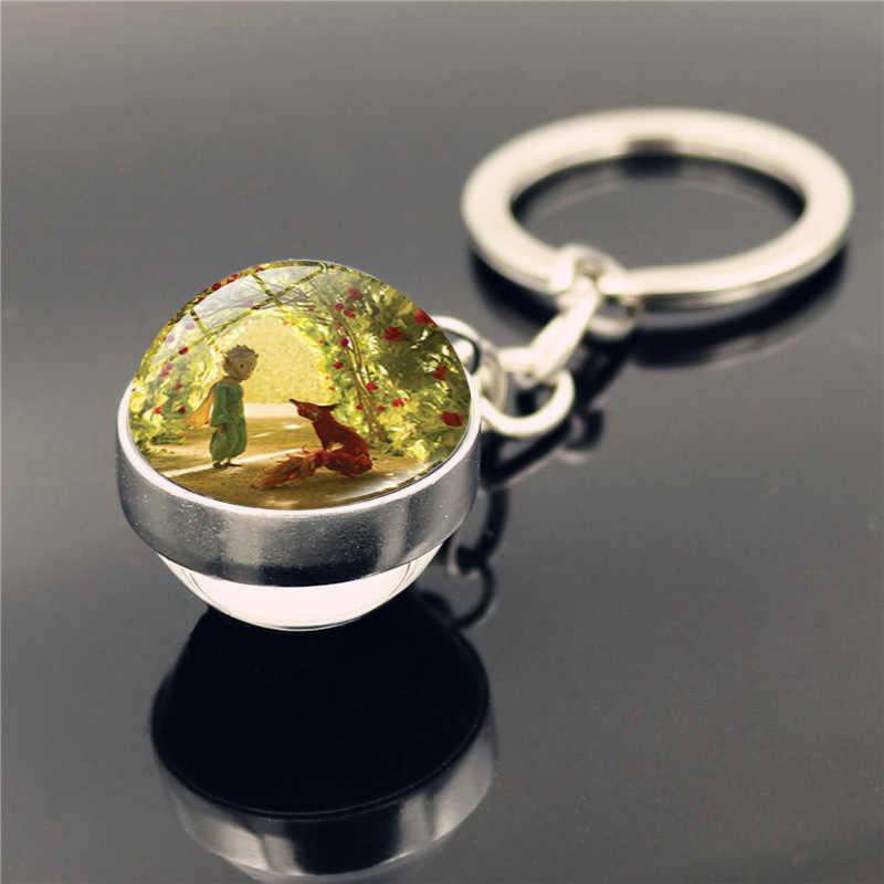 ¡No seas un adulto aburrido! Le Petit Prince B-612 planeta el pequeño precio zorro Rosa clásico cuento de hadas Bola de vidrio doble llavero