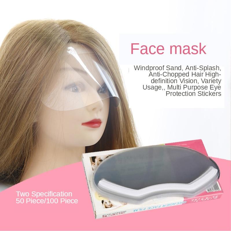 50/100pcs Disposable Bangs Paste Goggles Masks Children Haircut Goggles Face Masks Beauty Salon Tools Masks G0318