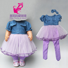 Baby Doll jean dress with legging for 18 inch girl doll jeans clothes and long socks baby doll clothes baby doll jean dress with legging for 18 inch girl doll jeans clothes and long socks baby doll clothes