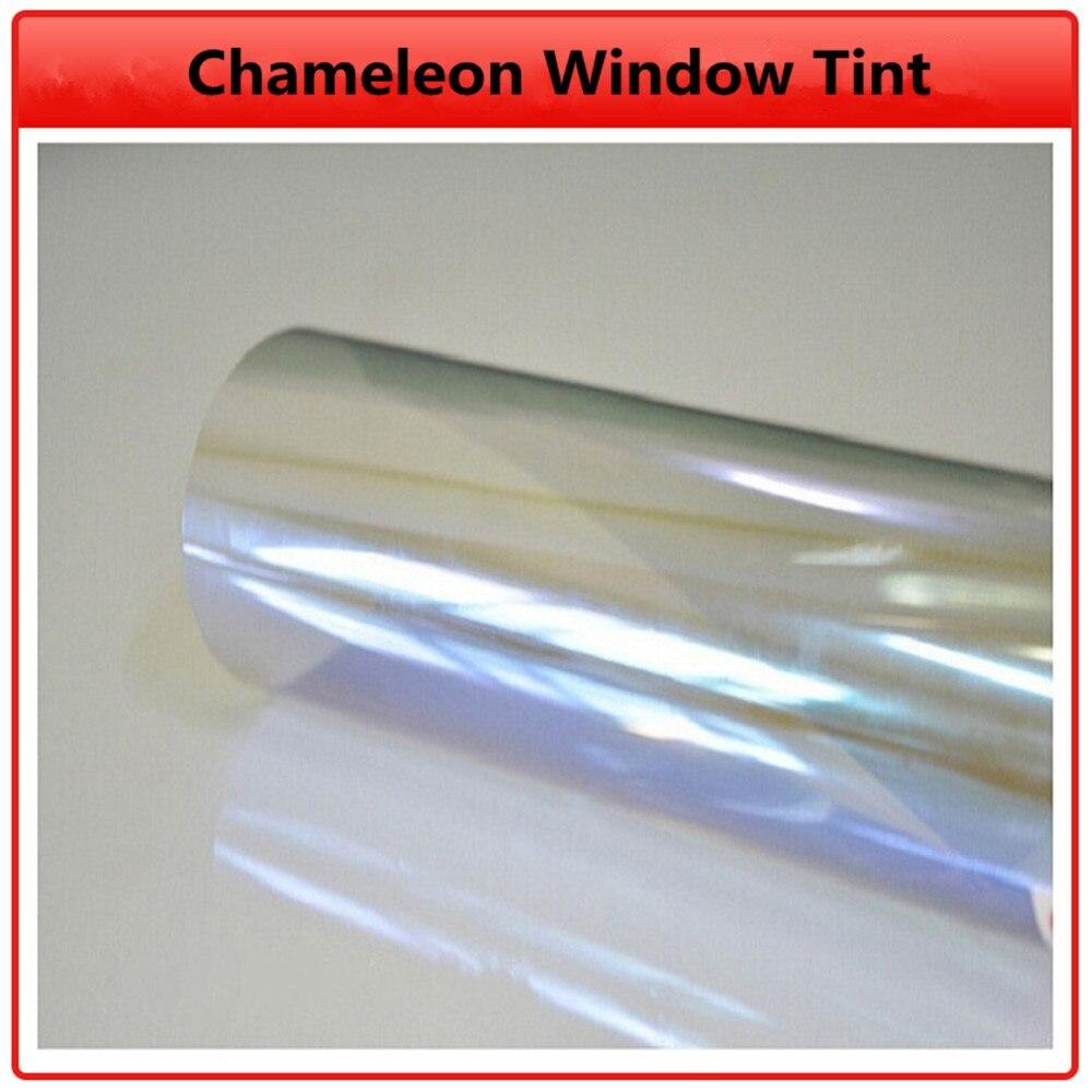 SUNICE VLT80% Car Chameleon Window Film Home Office Glass Sticker Decorative Privacy Protective Car Foils 1.52x3m