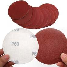 10x красный цвет наждачная бумага 5 дюймов 125 мм Шлифовальные