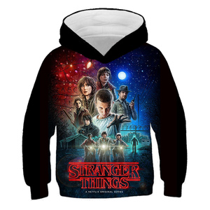 All sizes From 4 Yrs Clothes Children Sweatshirt Boy Hoodie Stranger Things Clothes Girl Tops Casual Streetwear Hooded Pullovers