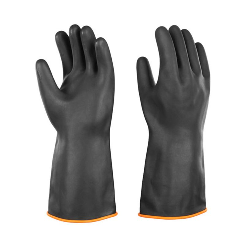 14 Inch Heavy Duty Latex Gloves Chemical Resist Strong Acid Alkali Oil Industrial Safety Work Protective Long Gauntlets Mittens