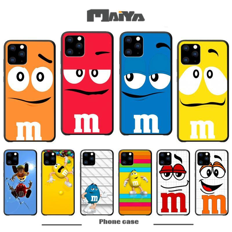Maiya M&Ms Chocolate Luxury Phone Case Coque For Iphone 5s Se 2020 6 6s 7 8 Plus X Xs Max Xr 11 Pro Max Silicone Cases Fundas