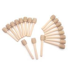 Новые 24 шт медовые мешалки, палочки для капельницы 8 см длинная деревянная ручка, прочная медовая ложка для молока, чайные принадлежности, кухонные аксессуары