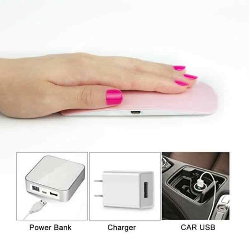 Lámpara de uñas LED UV Mini 6W Gel Secador de esmalte de uñas lámpara ultravioleta forma de ratón USB eléctrica GEL de manicura secado de uñas ligero